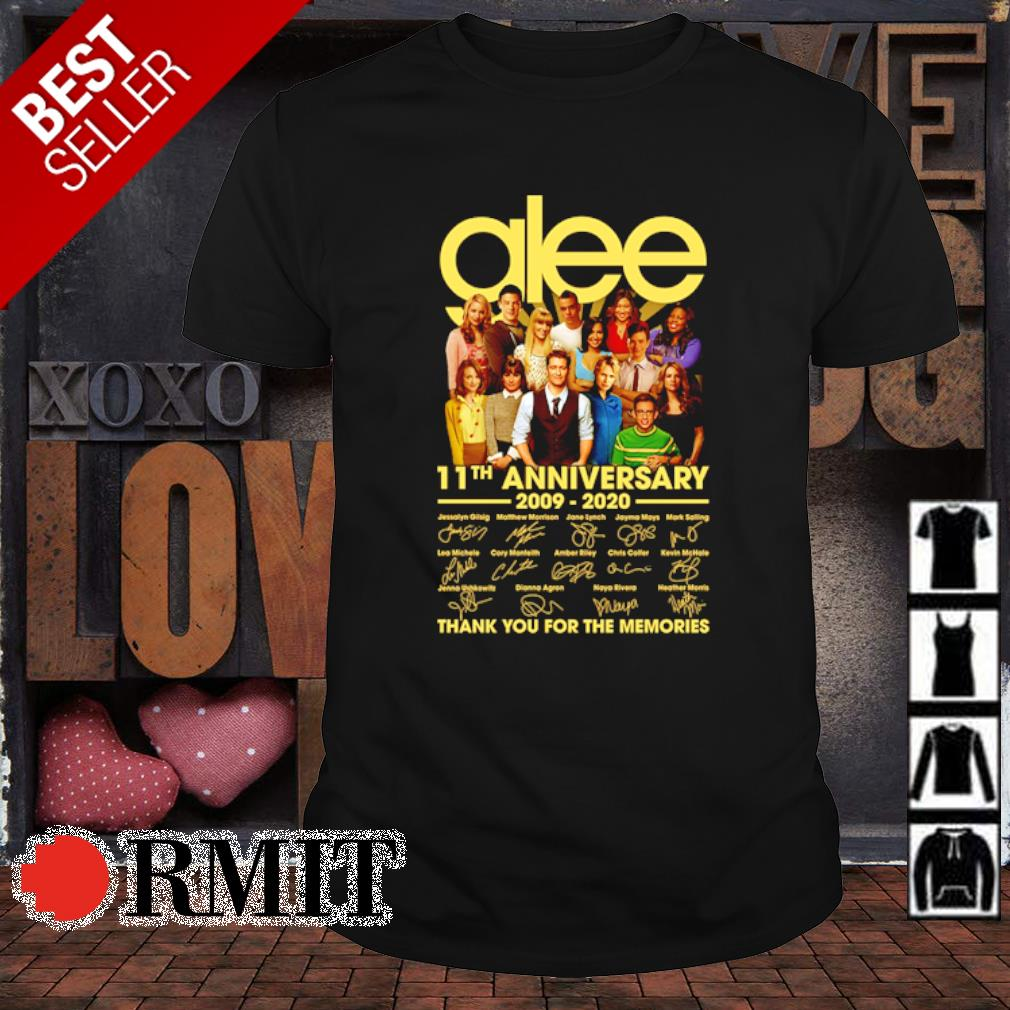 Glee 11th Anniversary 2009 2020 thank you for the memories shirt