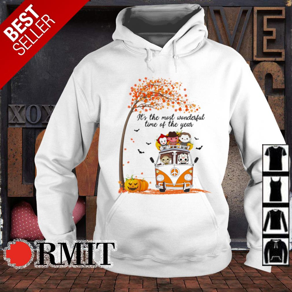 Hippie car Halloween horror characters chibi it's the most wonderful time of the year s hoodie