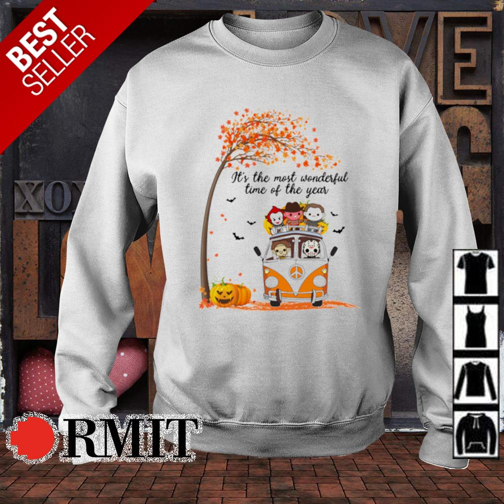 Hippie car Halloween horror characters chibi it's the most wonderful time of the year s sweater