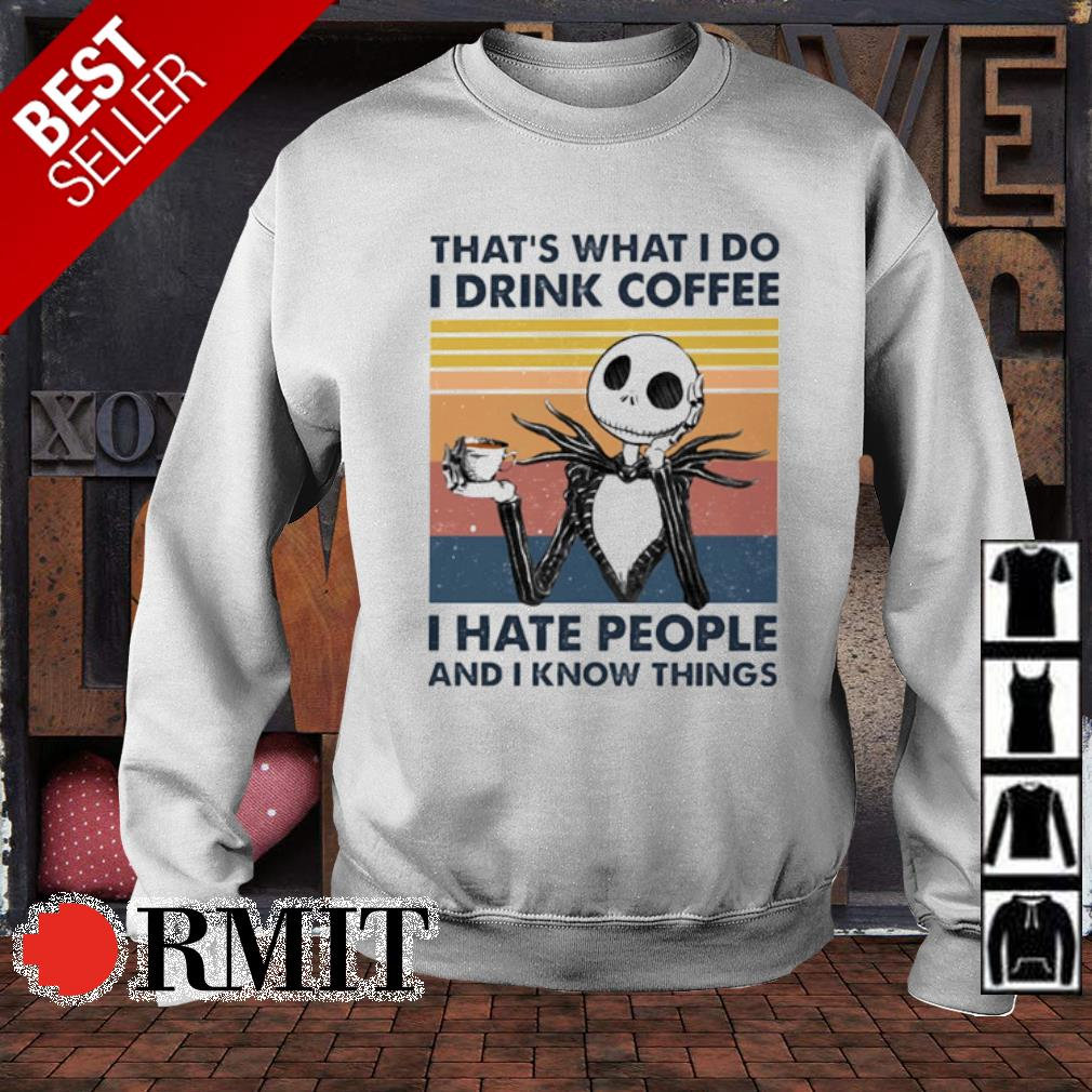 Jack Skellington that's what I do I drink coffee I hate people vintage s sweater
