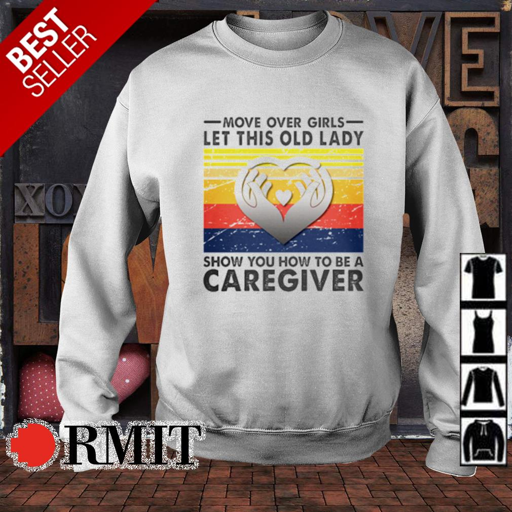 Move over girls let this old lady show you how to be a caregiver s sweater