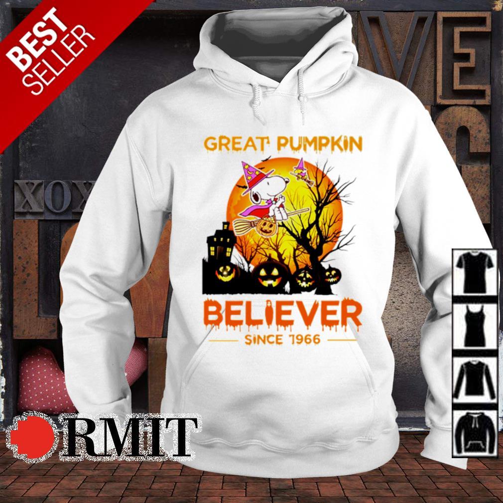Snoopy great pumpkin believer since 1966 Halloween s hoodie
