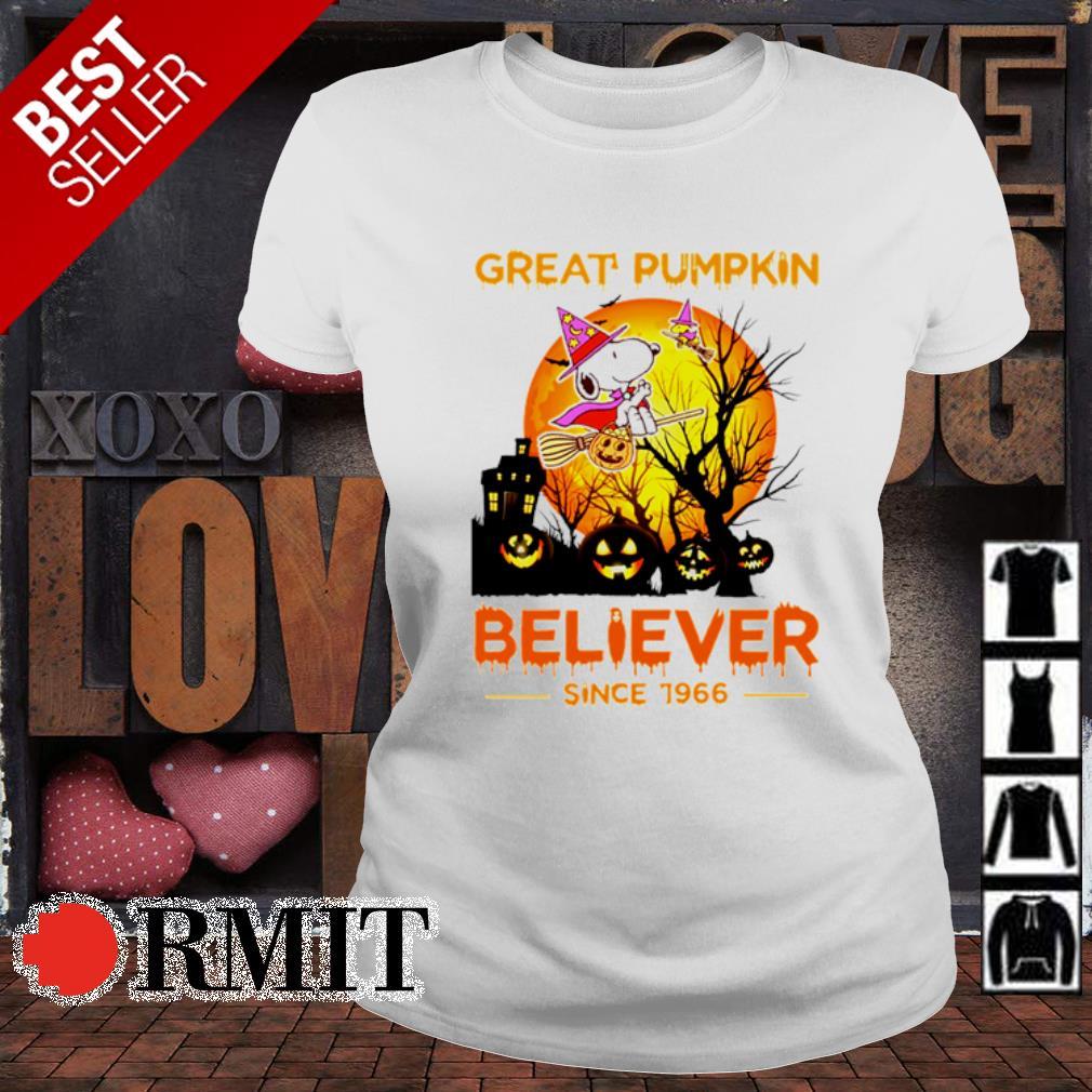 Snoopy great pumpkin believer since 1966 Halloween s ladies-tee