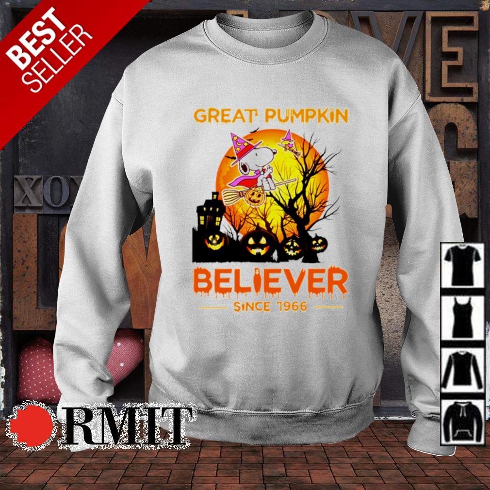 Snoopy great pumpkin believer since 1966 Halloween s sweater