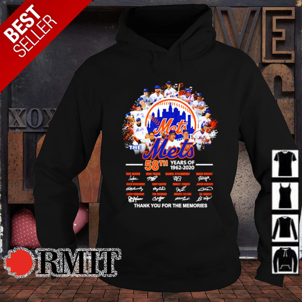The Mets 58th 1962 2020 thank you for the memories signature s hoodie1