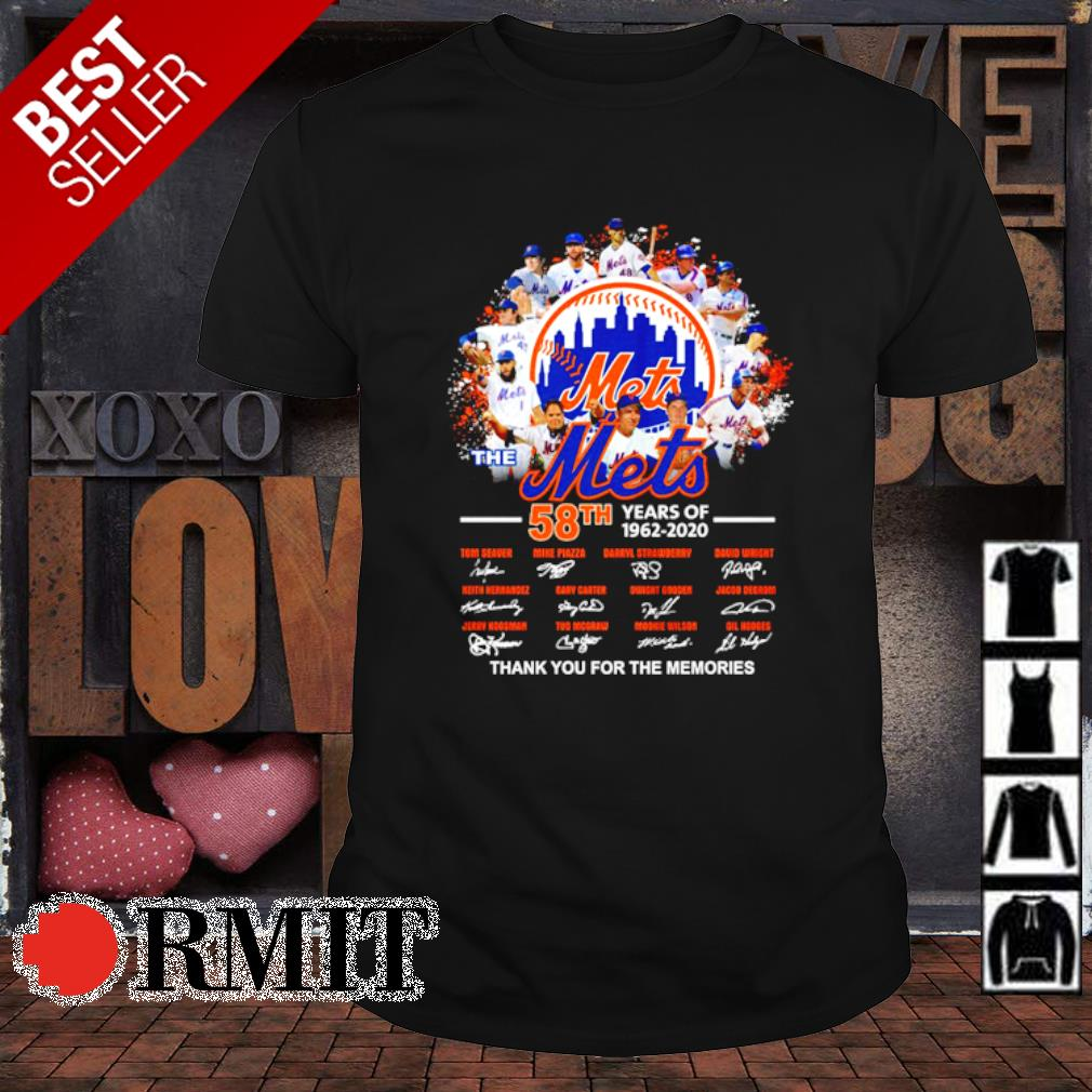 The Mets 58th 1962 2020 thank you for the memories signature shirt