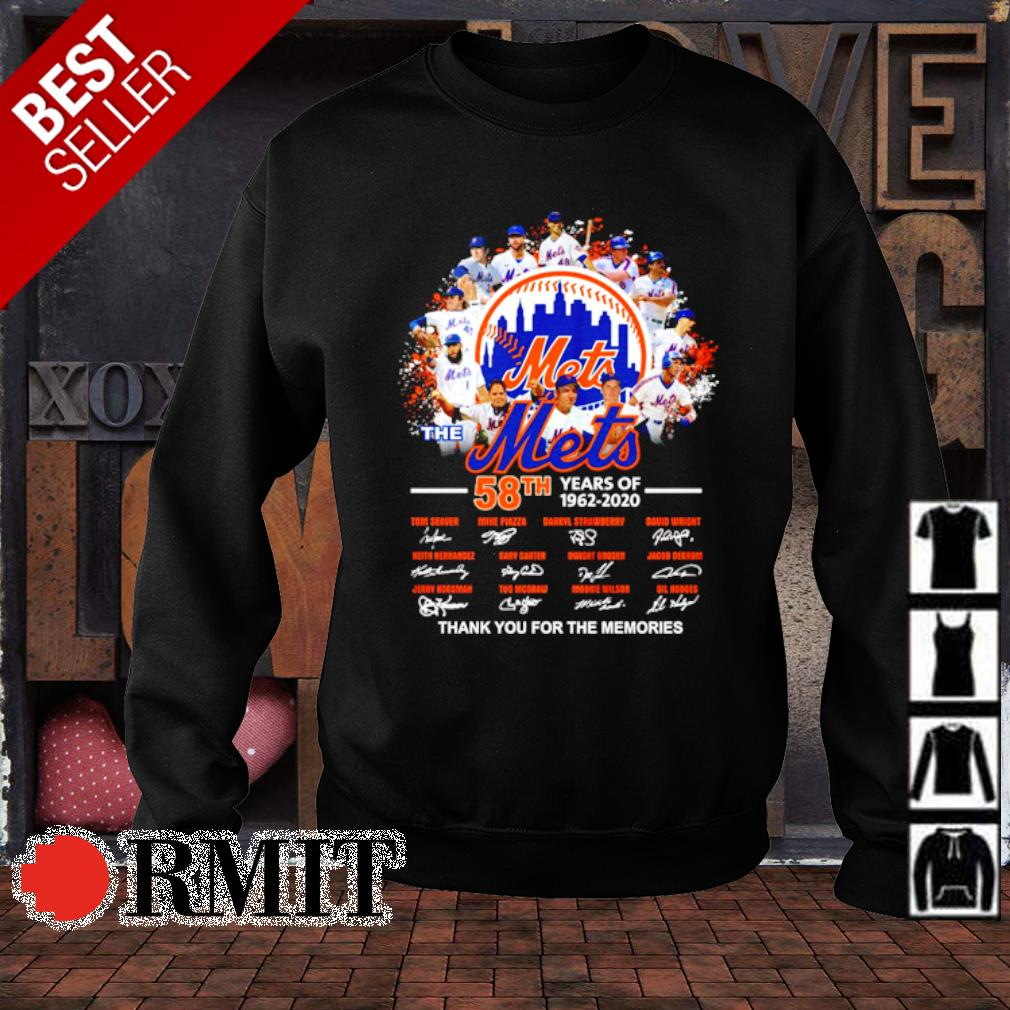 The Mets 58th 1962 2020 thank you for the memories signature s sweater1