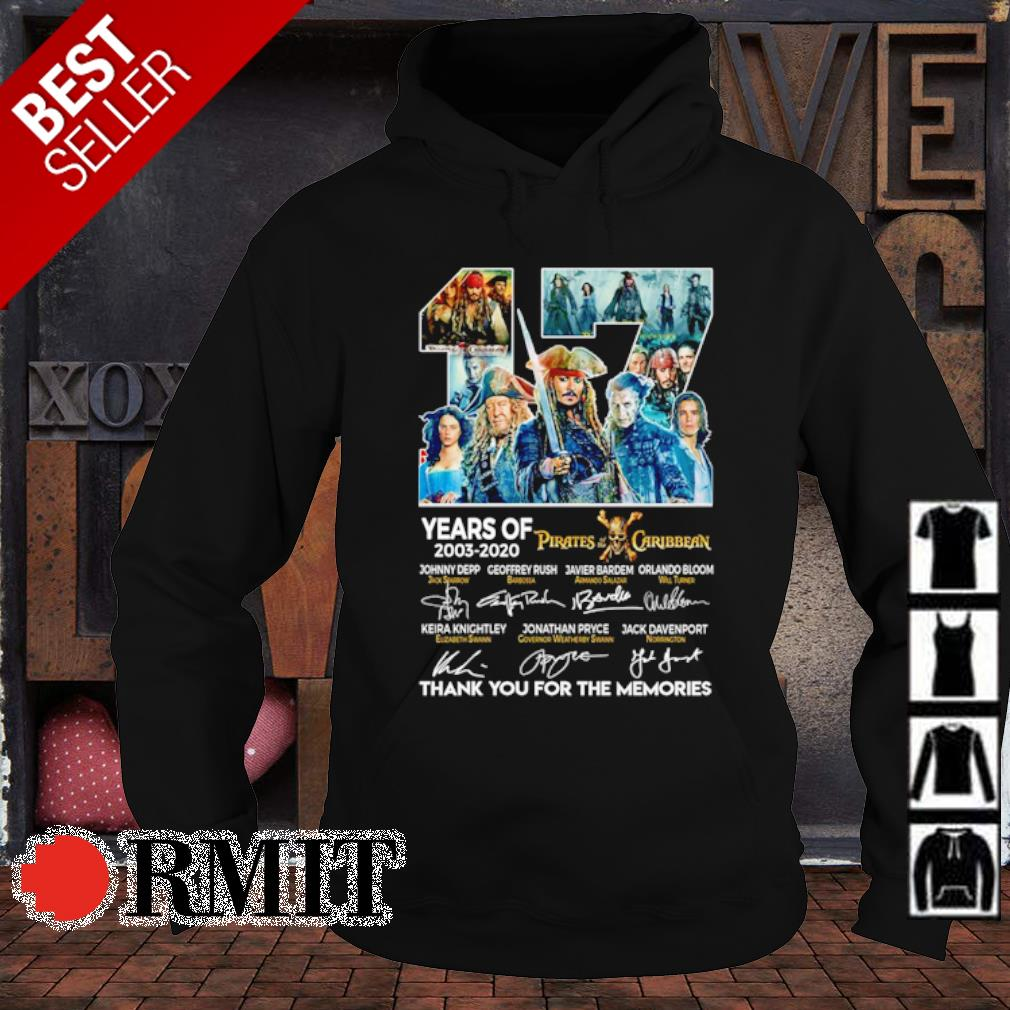 17 years of Pirates Caribbean 2003 2020 thank you for the memories s hoodie1