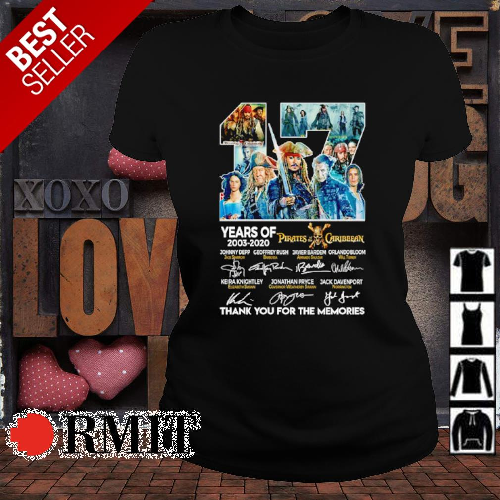 17 years of Pirates Caribbean 2003 2020 thank you for the memories s ladies-tee1