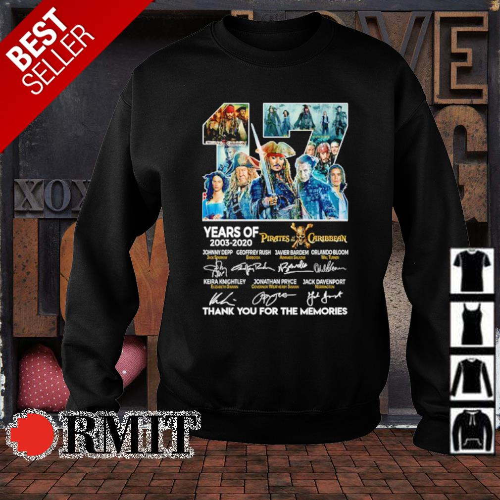 17 years of Pirates Caribbean 2003 2020 thank you for the memories s sweater1