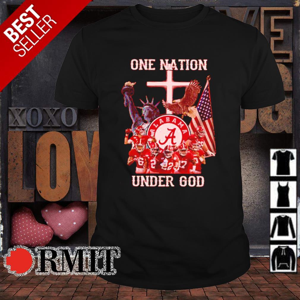 Alabama Crimson Tide one nation under god American flag shirt