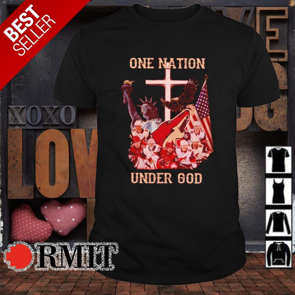 Arizona Coyotes one nation under God shirt