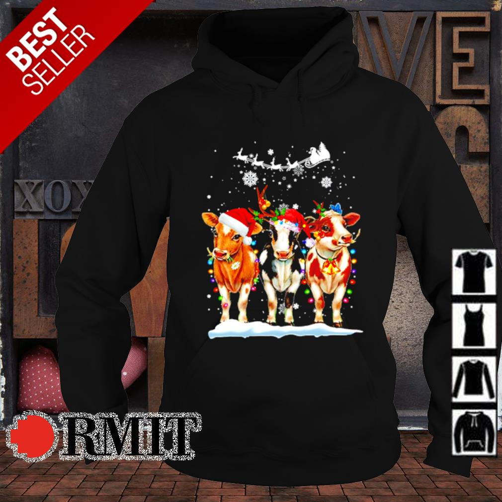 Cow Christmas Matching Family Group Christmas s hoodie1