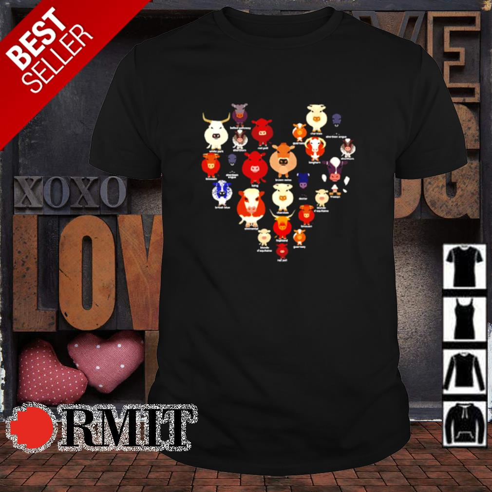 Cows make heart aholic shirt