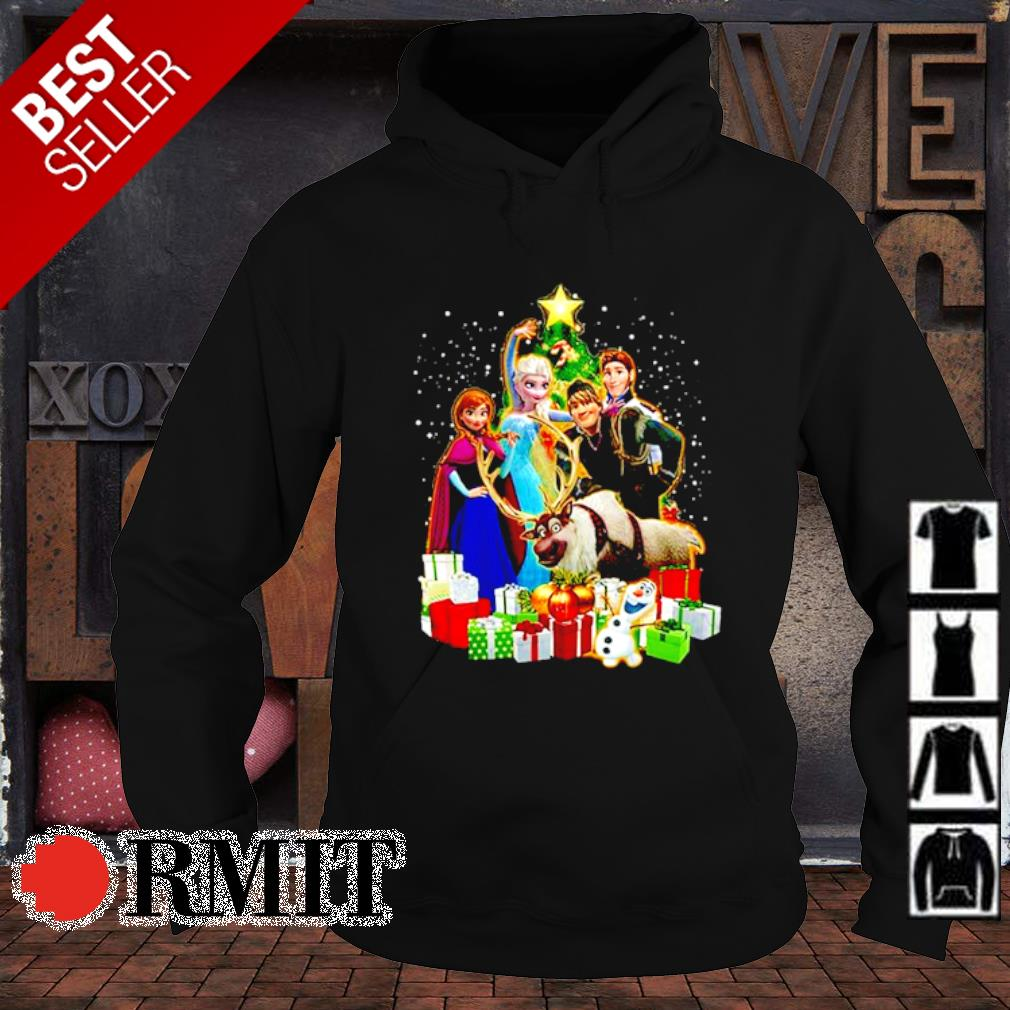 Disney Frozen characters Christmas tree s hoodie1