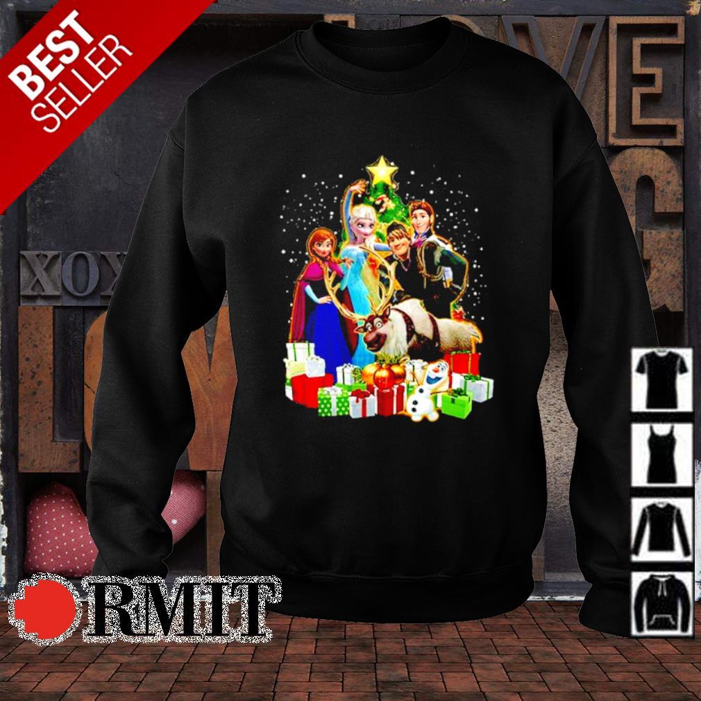 Disney Frozen characters Christmas tree s sweater1