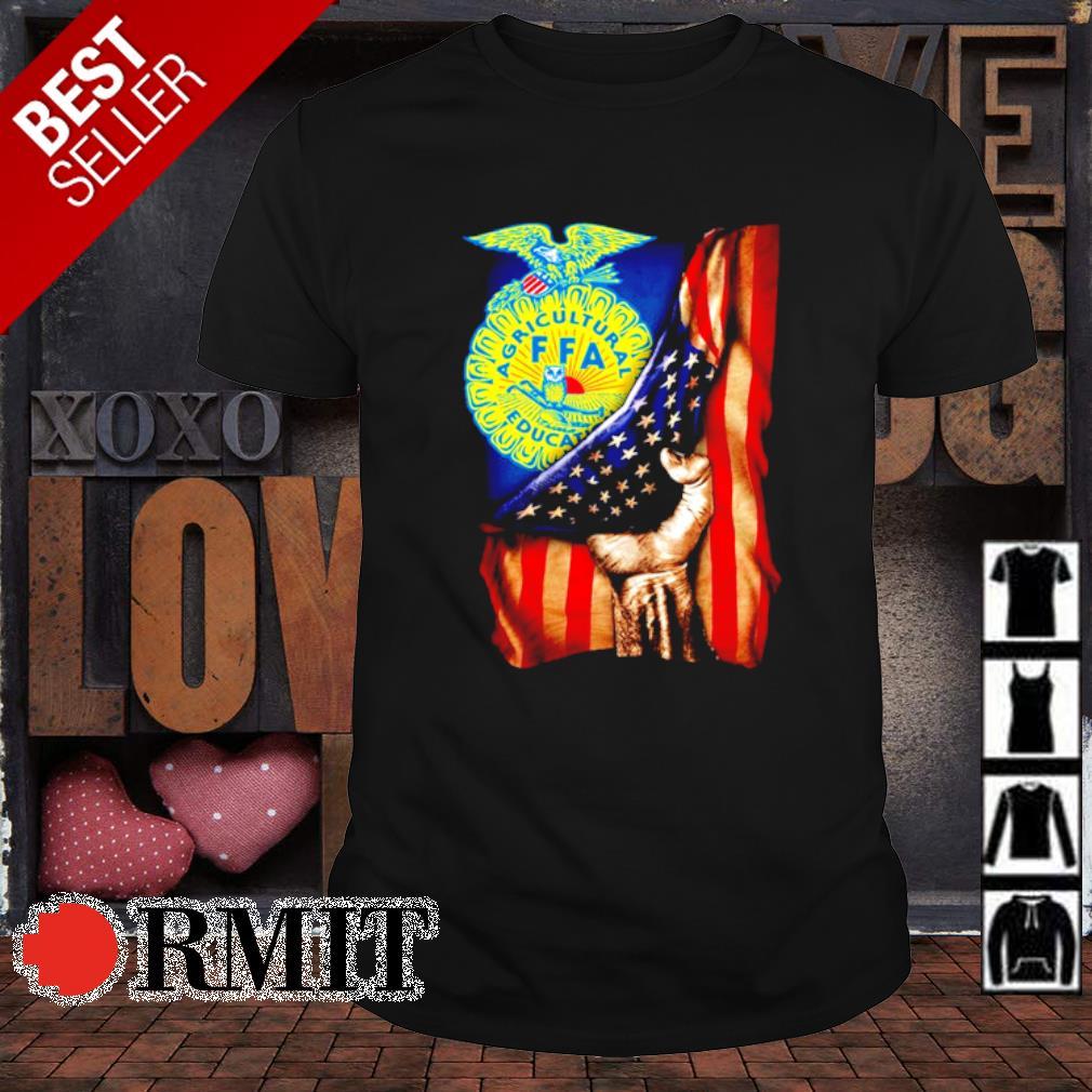 FFA Emblem inside American flag shirt