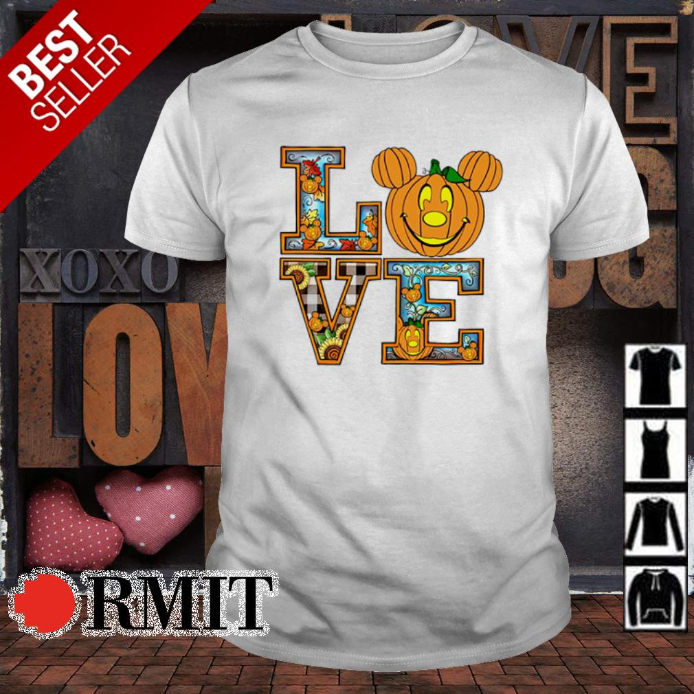 Mickey mouse pumpkin love Halloween shirt