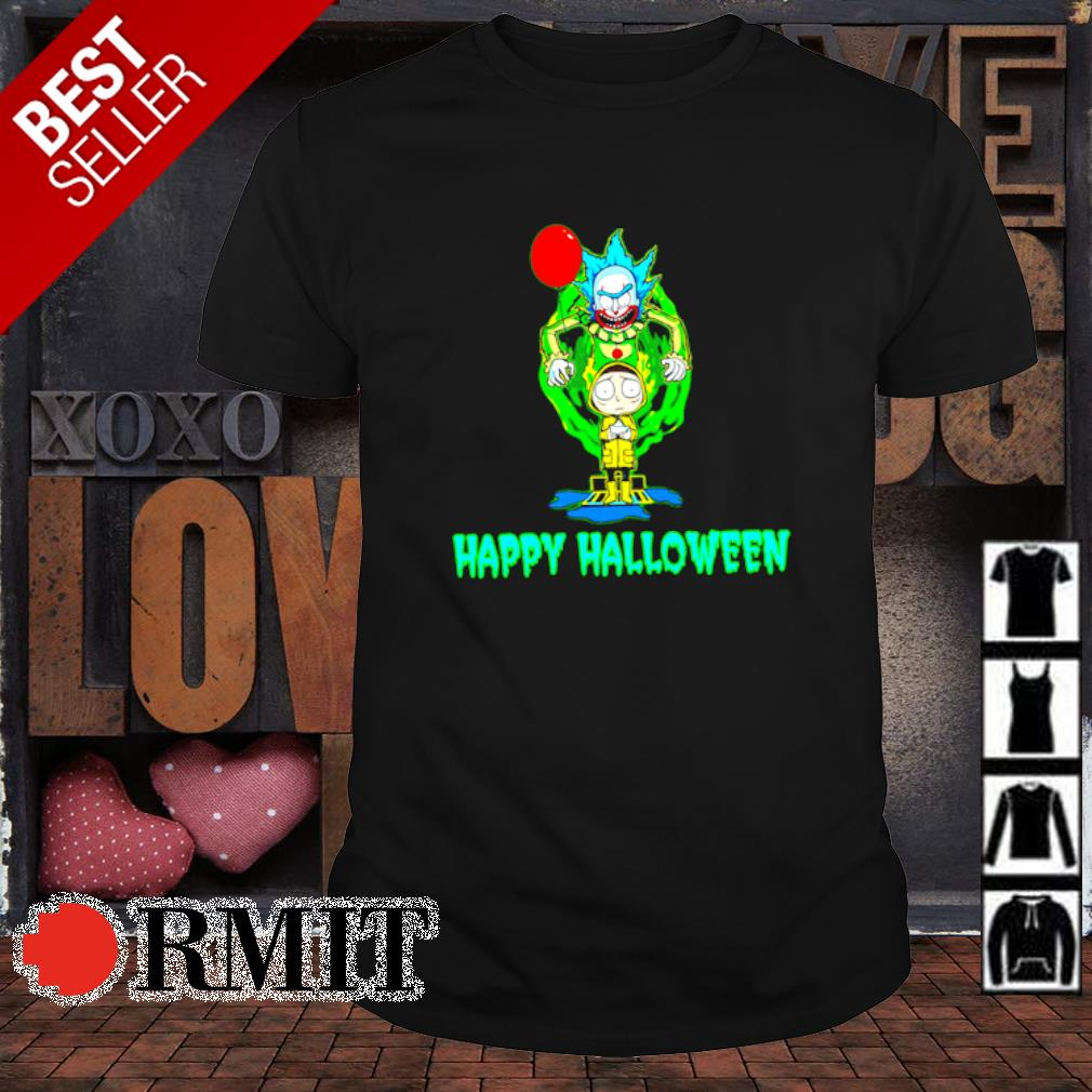 Pennywise Rick Sanchez and Morty Happy Halloween shirt