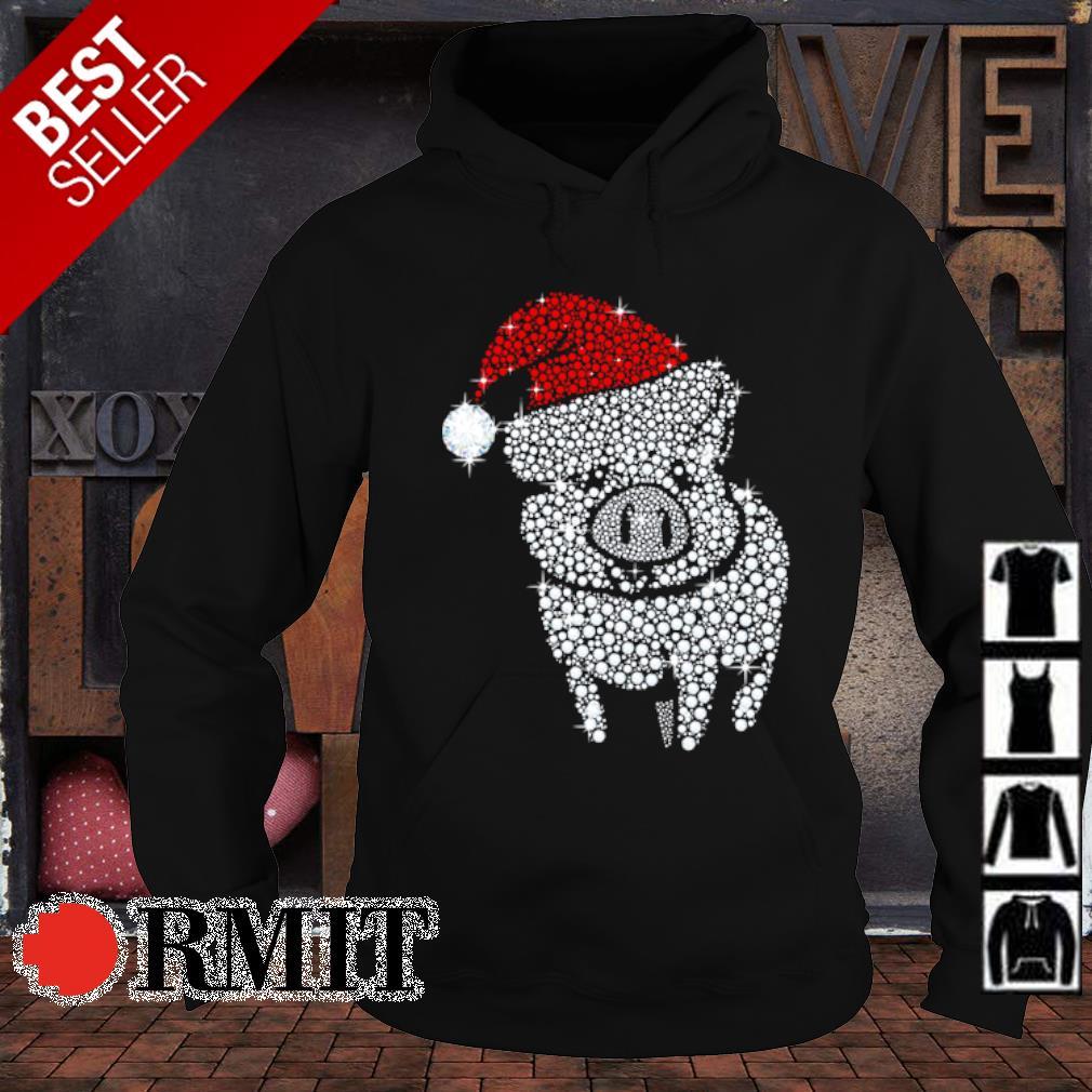 Pig diamond Merry Christmas s hoodie1