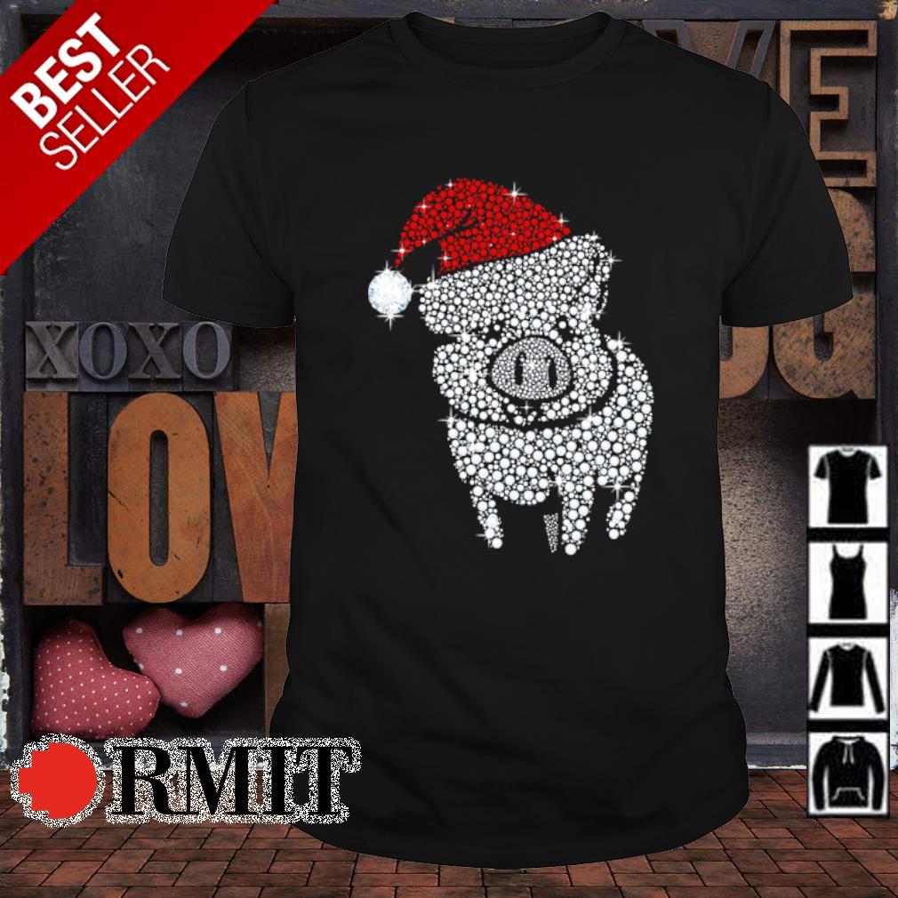 Pig diamond Merry Christmas shirt