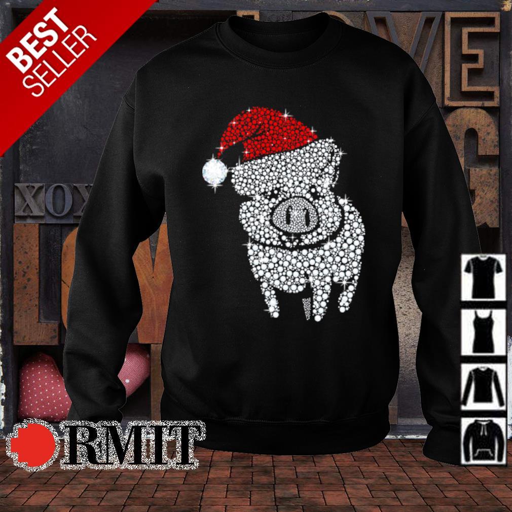 Pig diamond Merry Christmas s sweater1