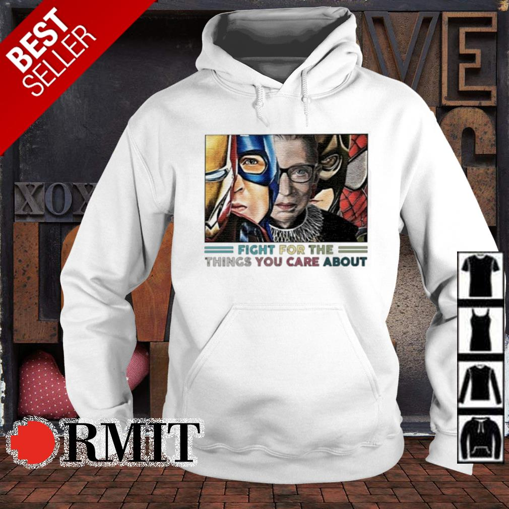 Ruth Bader Ginsburg Superheroes fight for the things you care about s hoodie