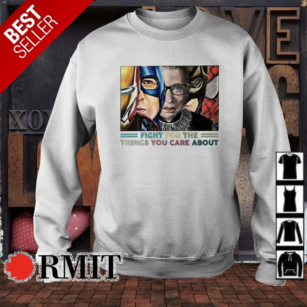 Ruth Bader Ginsburg Superheroes fight for the things you care about s sweater