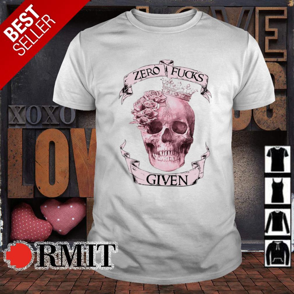 Skull flower zero fucks given shirt