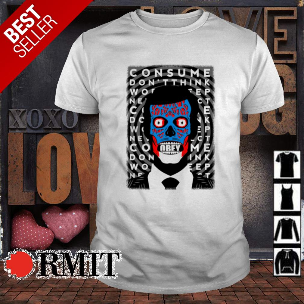 Skull Obey consume don't think shirt