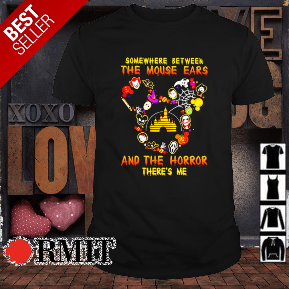 Somewhere between the mouse ears and the horror there's me shirt