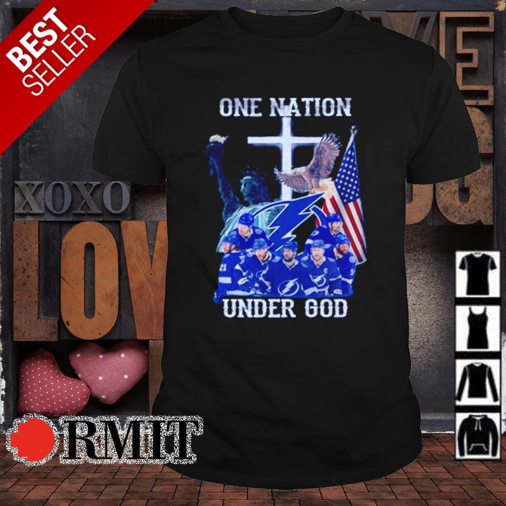 Tampa Bay Lightning one nation under God shirt