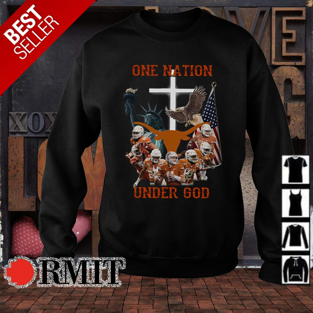 Texas Longhorns one nation under God American flag s sweater1