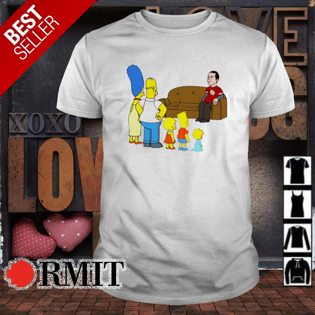 The Simpson family and Sheldon Cooper shirt
