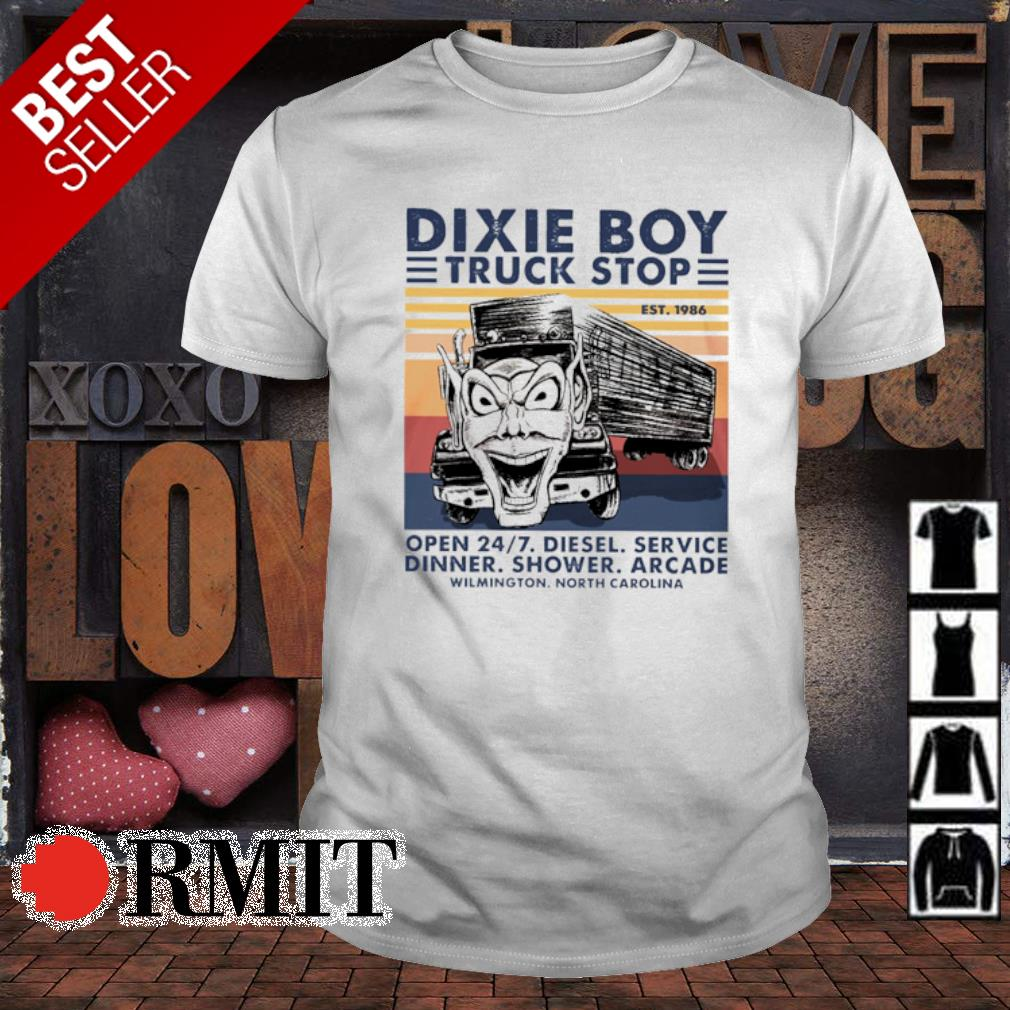 Trucker dixie boy truck stop open diesel service dinner vintage shirt
