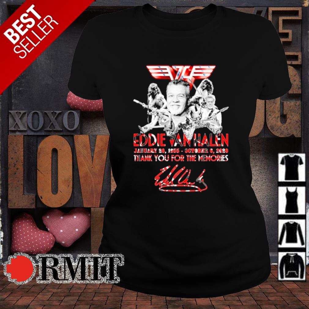 Eddie Van Halen January 26 1955 October 6 2020 thank you for the memories s ladies-tee1