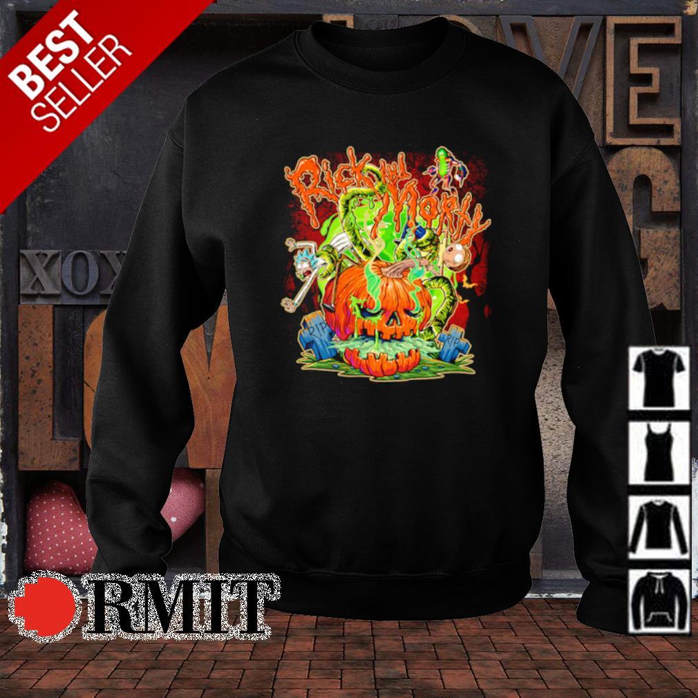 Horror Rick and morty pumpkin Halloween s sweater1