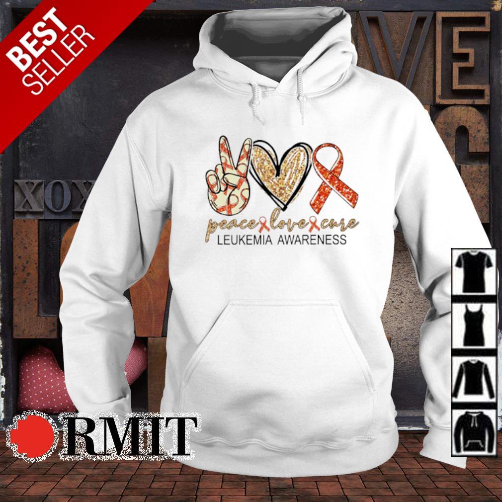 Peace love cure Leukemia Awareness s hoodie