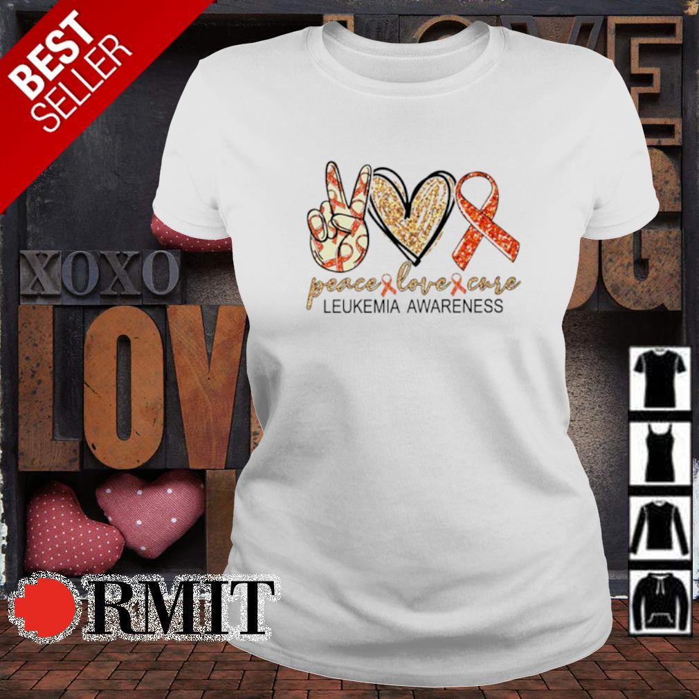 Peace love cure Leukemia Awareness s ladies-tee