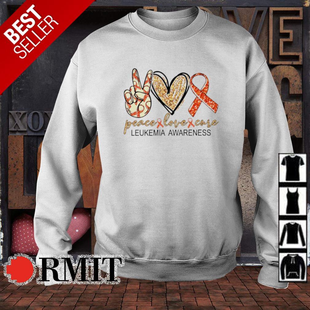 Peace love cure Leukemia Awareness s sweater