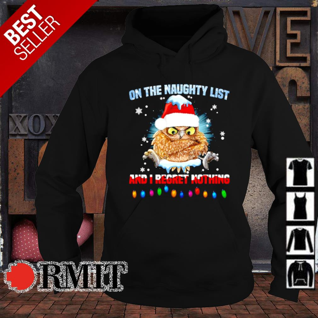 Santa Owl on the naighty list and I regret nothing s hoodie1