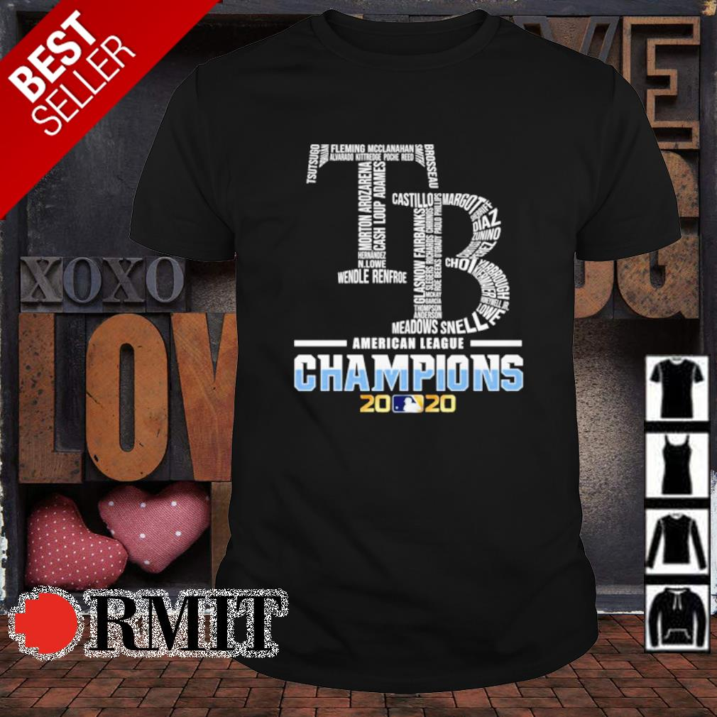 Tampa Bay Rays American League Champions 2020 shirt
