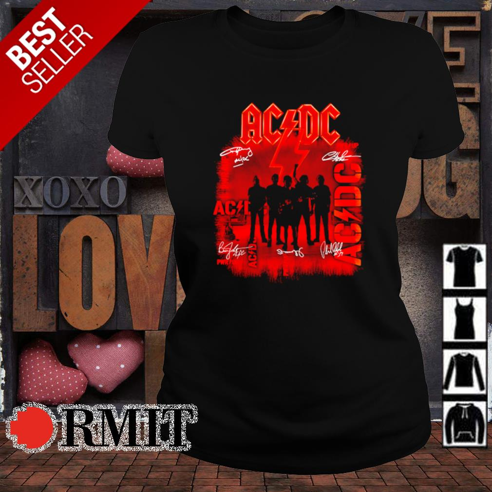 ACDC pwr up members signature s ladies-tee1
