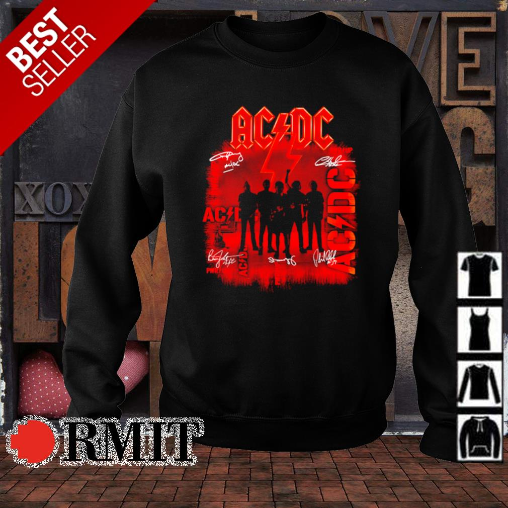 ACDC pwr up members signature s sweater1
