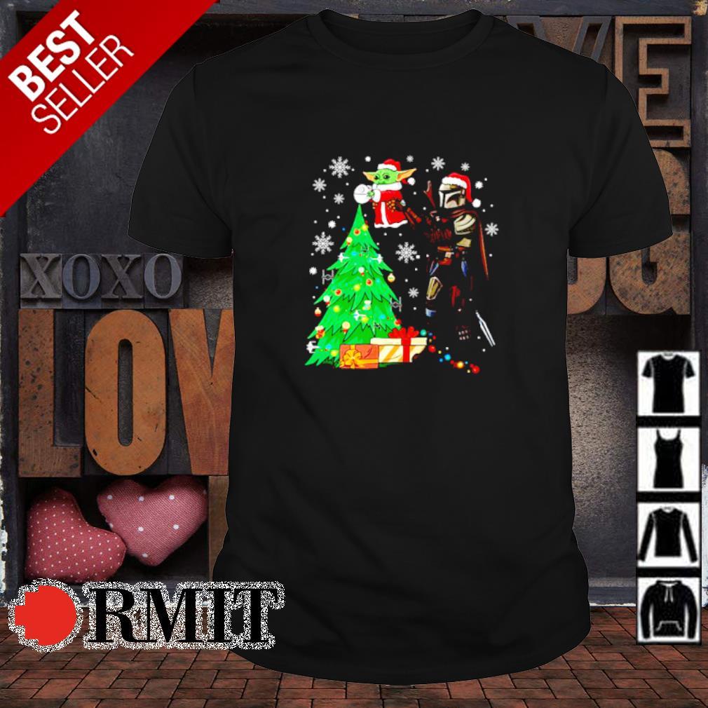 Boba Fett elevate Baby Yoda as The Lion King Christmas tree shirt