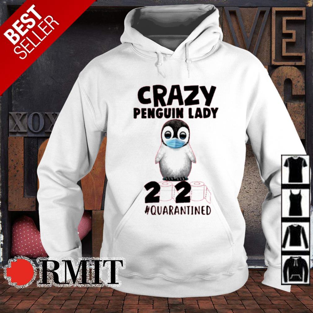 Crazy penguin lady 2020 quarantined s hoodie
