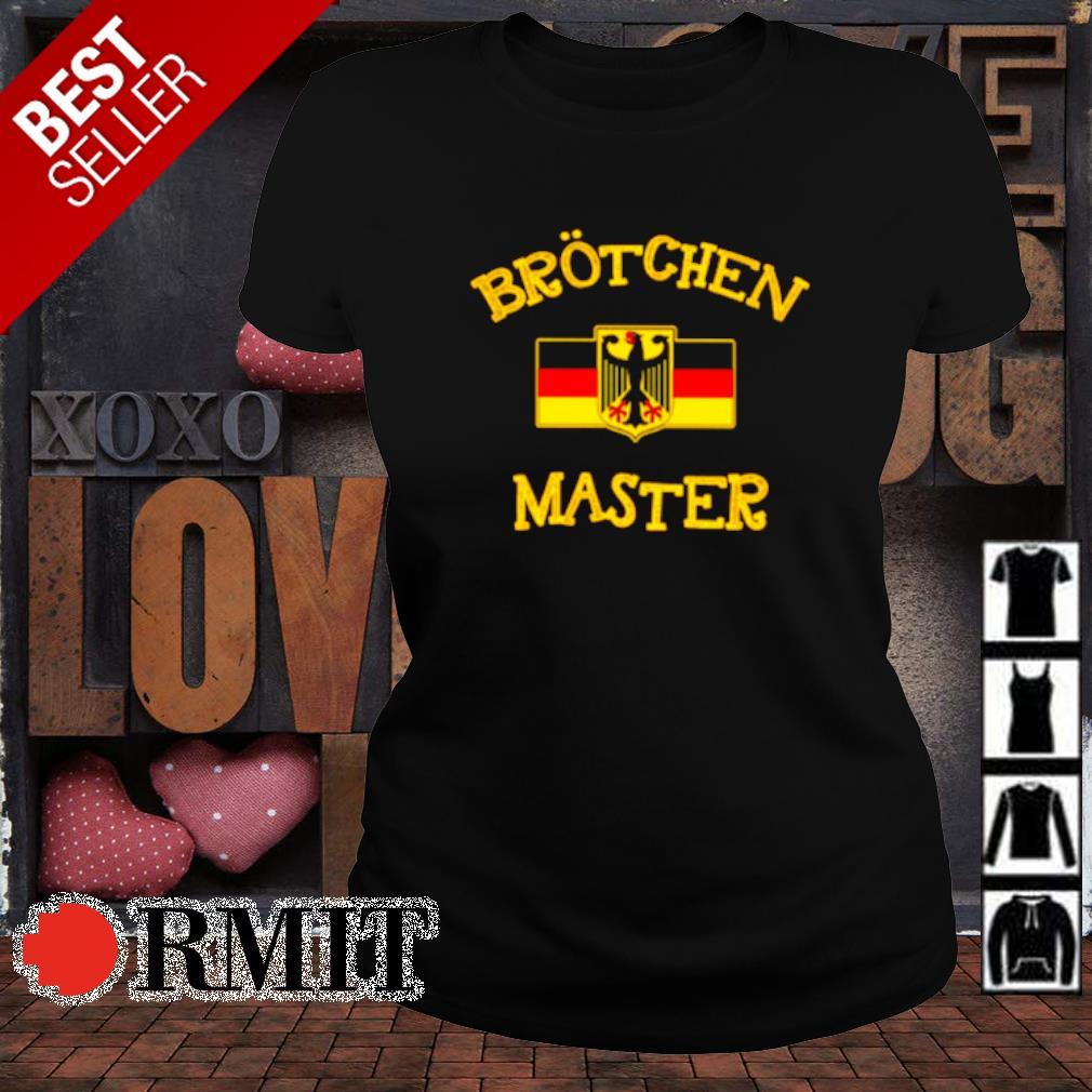 Germany flag brotchen master s ladies-tee1