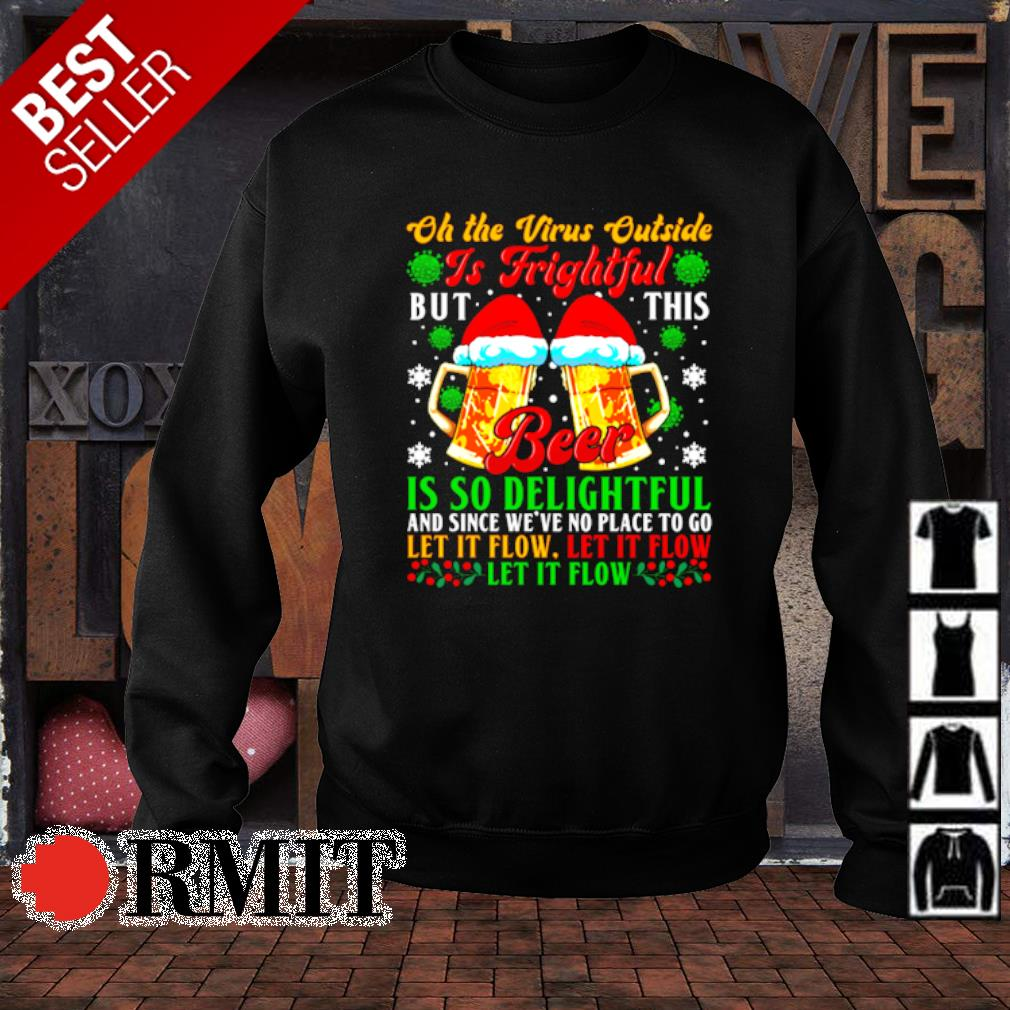 Oh the virus outside is frightful but this beer is so delightful Christmas s sweater1