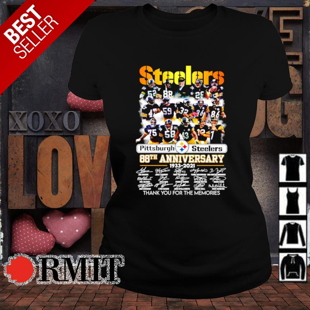 Pittsburgh Steelers 88th Anniversary thank you for the memories s ladies-tee1