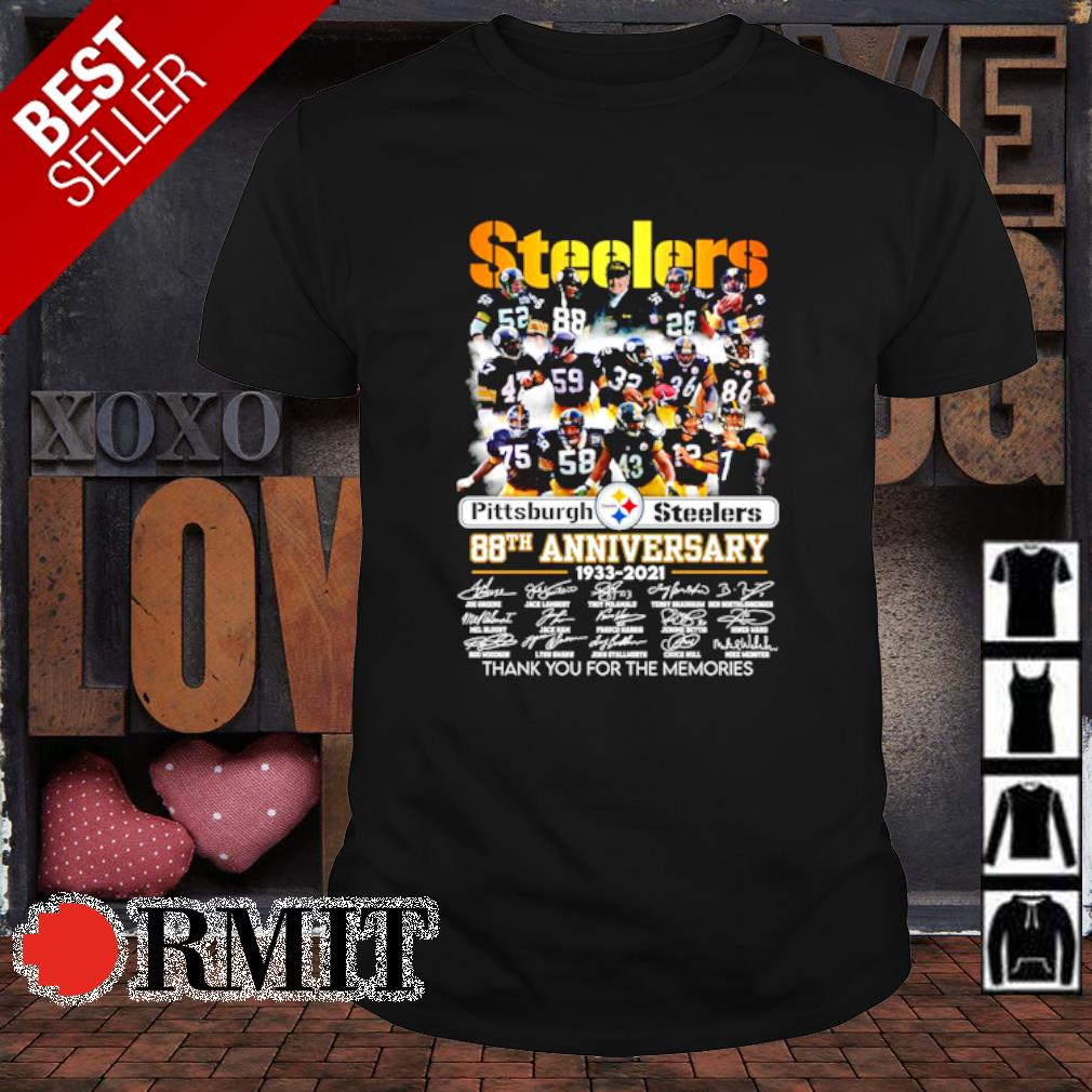 Pittsburgh Steelers 88th Anniversary thank you for the memories shirt